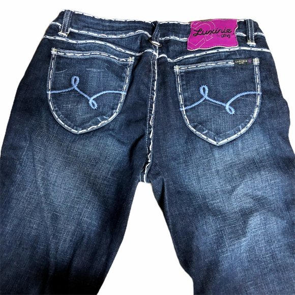 Luxirie Denim - Luxirie Jeans Juniors 11 Dark Blue Denim Stretch